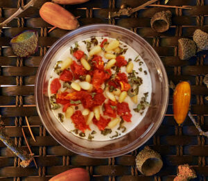 Cultured Cashew Cheese Artichoke Garlic and Vegan Parmesan
