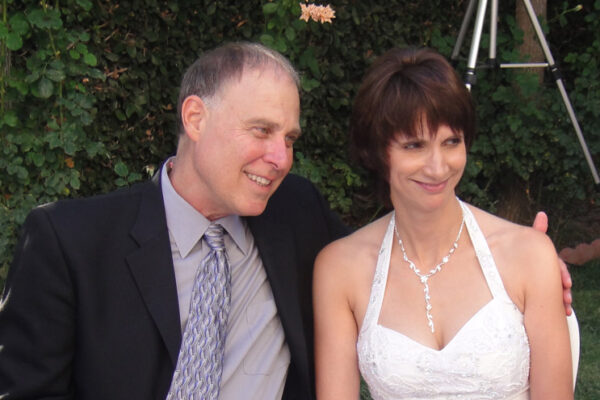 suzanne tom at their wedding