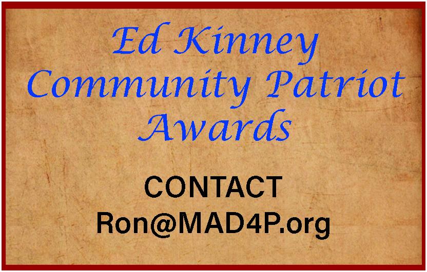 Ed Kinney Community Patriot Award Contact Info