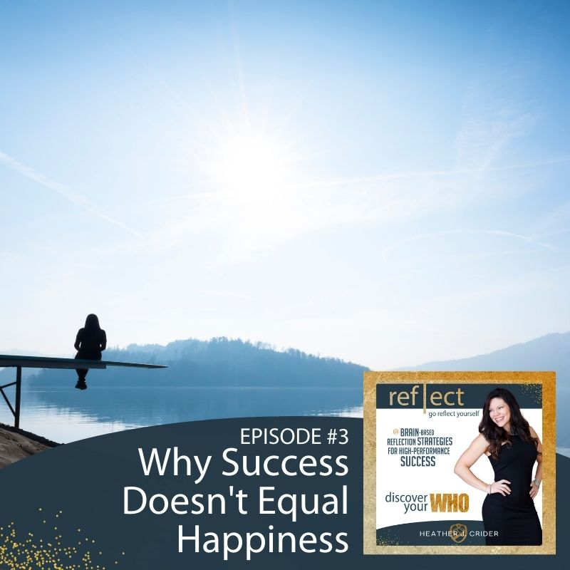 Self Reflection and Growth MindsetEpisode 3 GRY Podcast Why Success Doesn't Equal Happiness Host Heather Crider image water