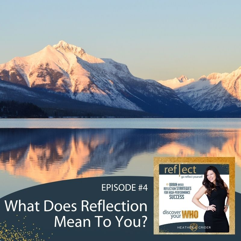 Mindset and Self Reflection Episode 4 GRY Podcast What Does Reflection Mean To You With Host Heather Crider
