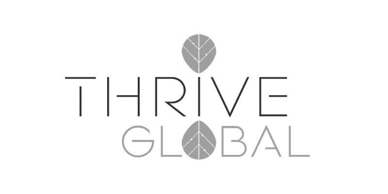 Thrive Global Logo for Heather J Crider Mindset and Reflection Website