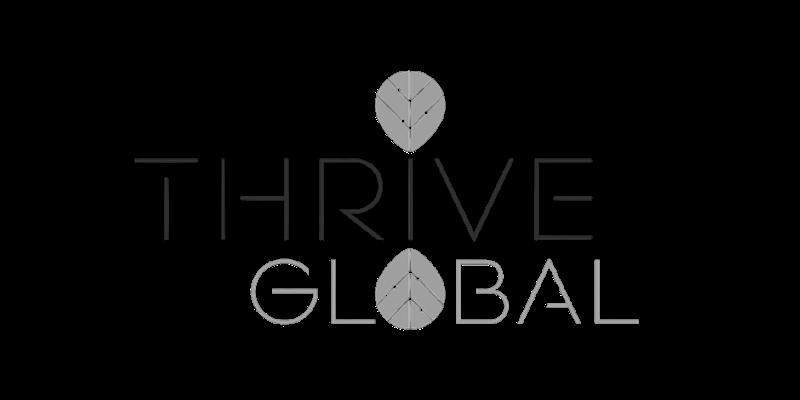 Thrive Global Logo for Heather J Crider Mindset and Reflection Website