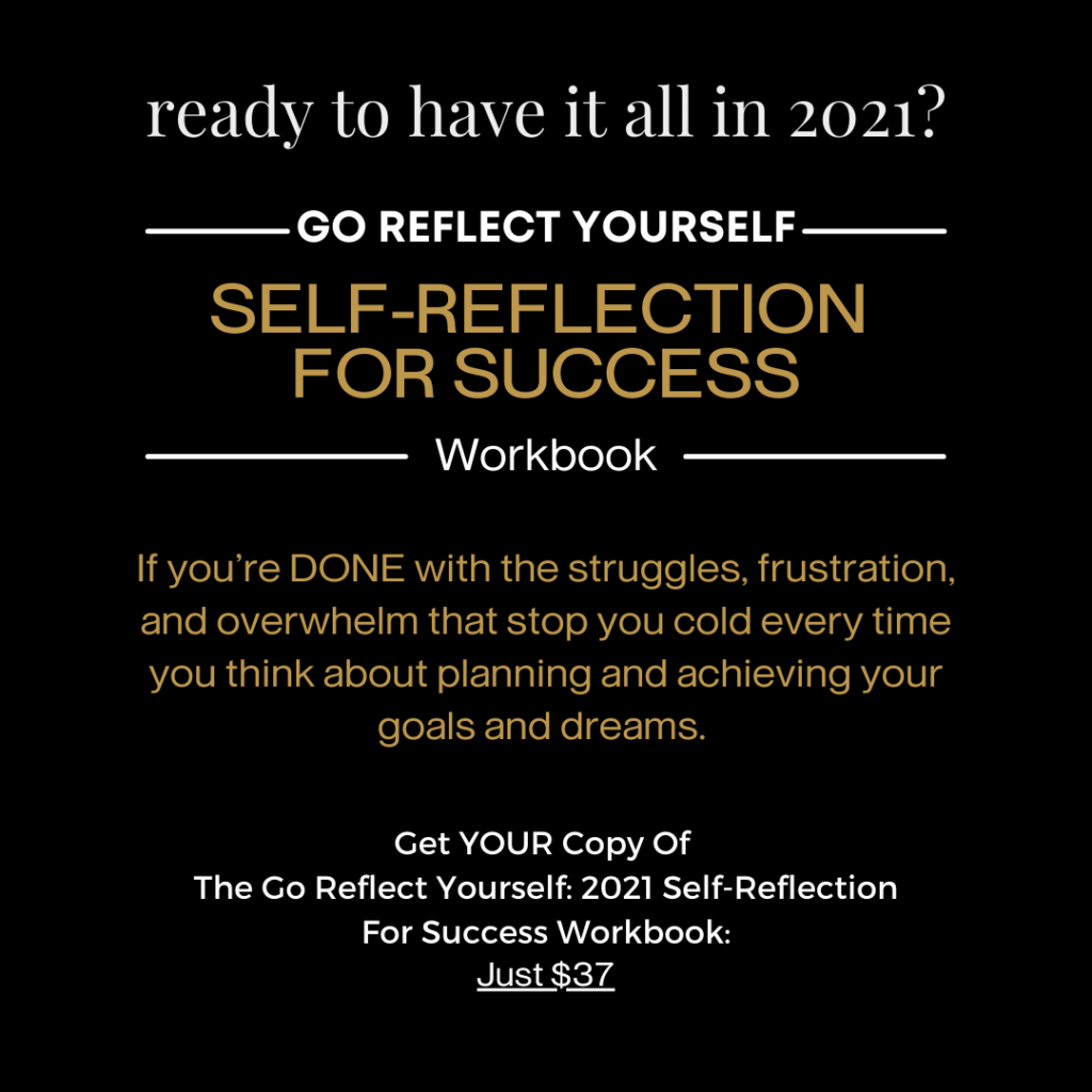 Self-Reflection For Success Workbook IMage 2021