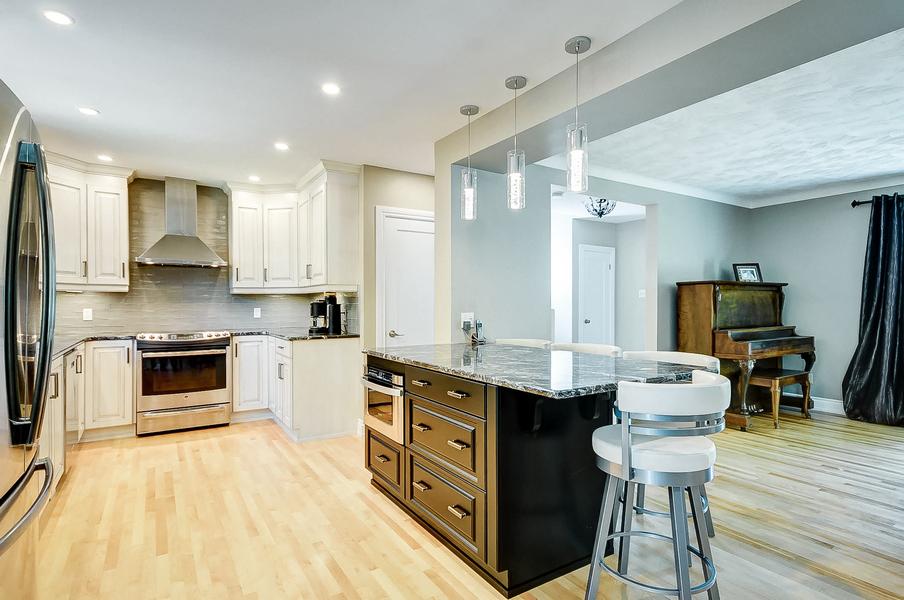 Open concept kitchen in Ottawa