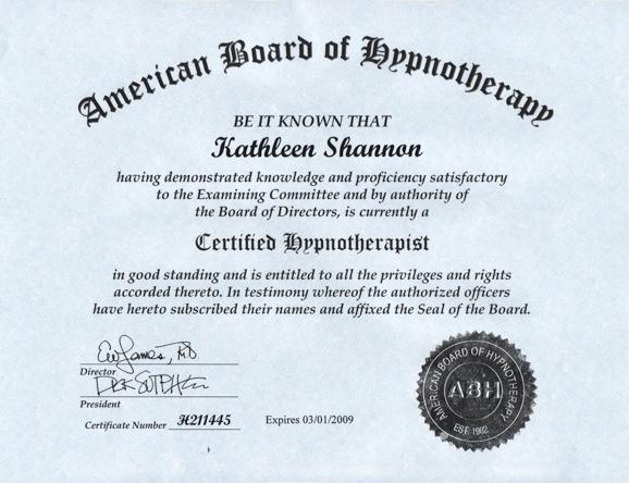ABH Certificate