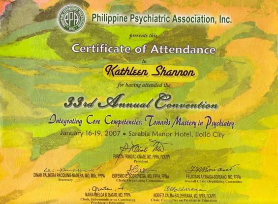 Philippines certificate
