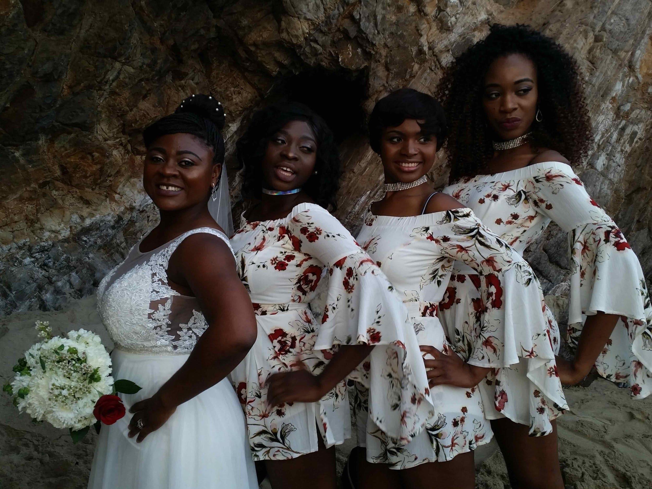 Laguna Beach wedding bridesmaids