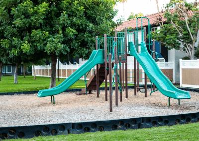 Slides on the playground