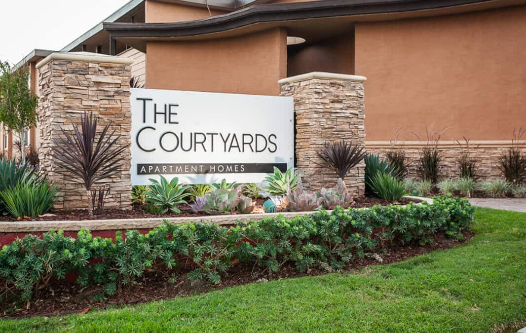 The Courtyards Apartments Sign