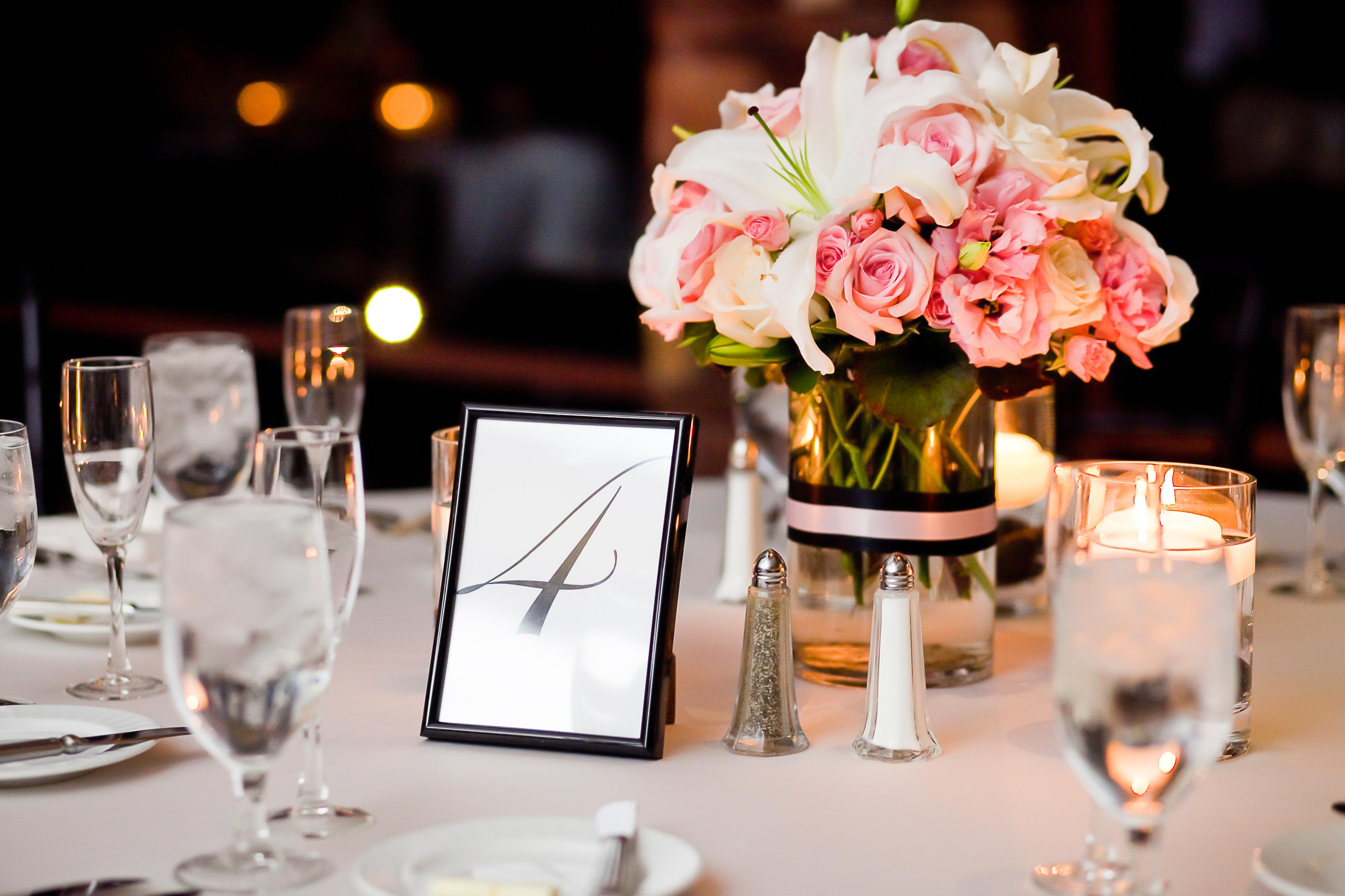 Wedding table centerpiece at Vouv in dallas texas