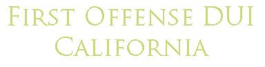 First Offense DUI