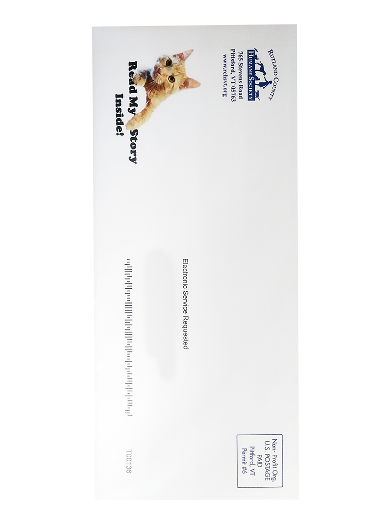 Humane Society Envelope Printed