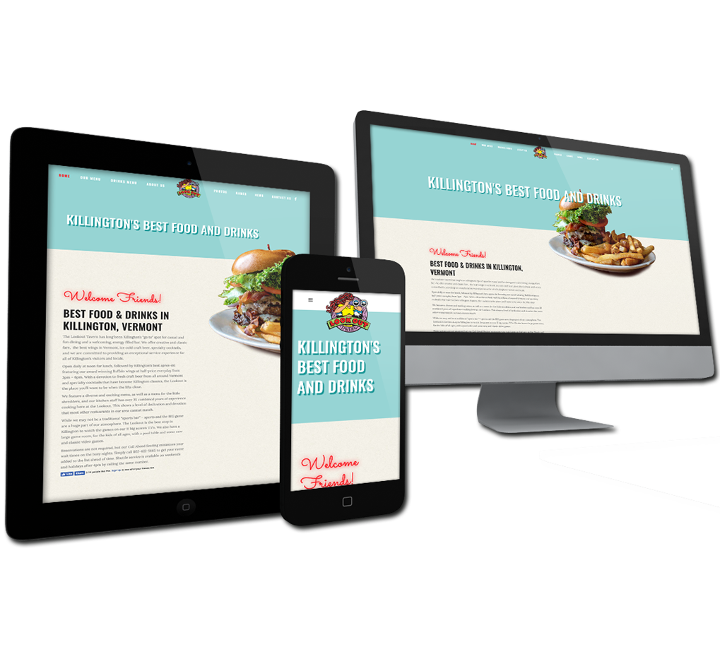 website design for the lookout