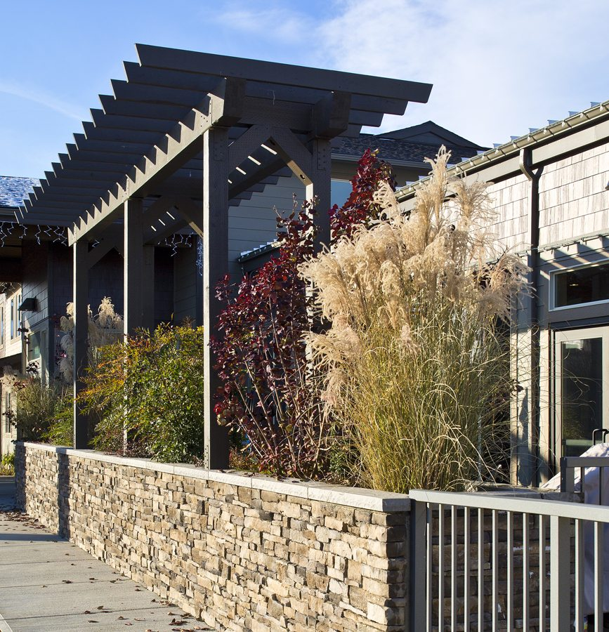 landscape structure at senior living facility