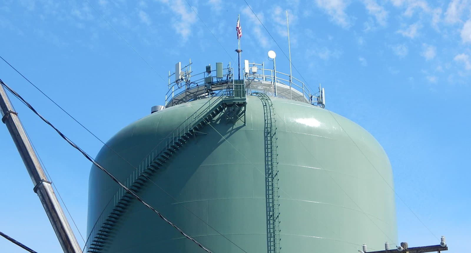wireless water tank installation
