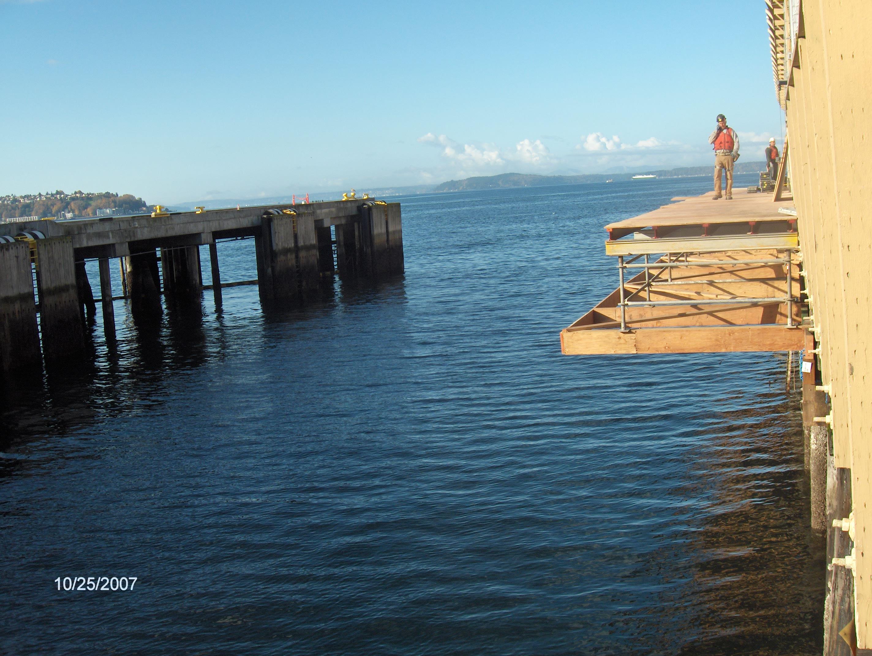 Pier construction repair