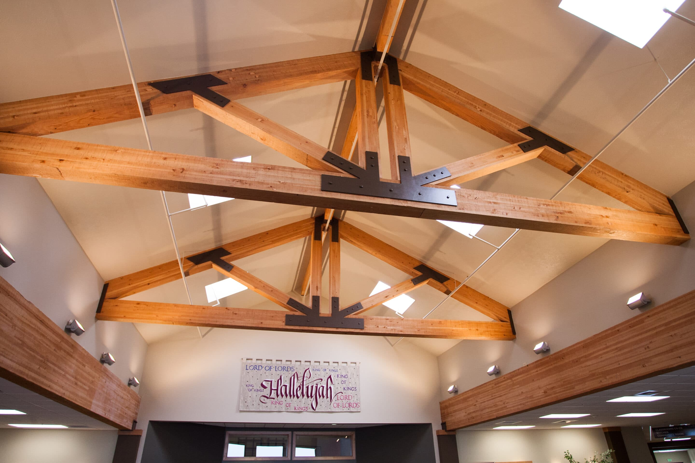 engineering exposed beams in church