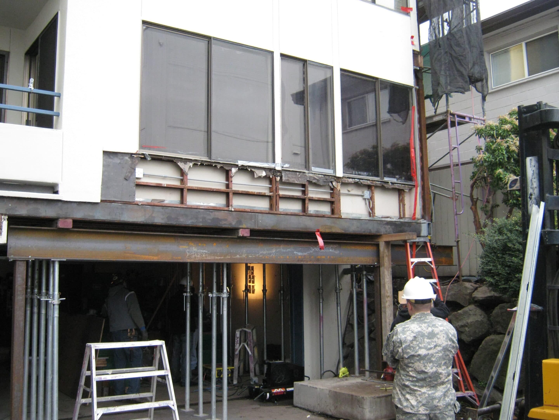 condo repairs in progress