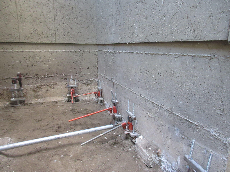 Foundation repair for apartment builidng