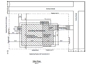 develop a site plan for foundation repair