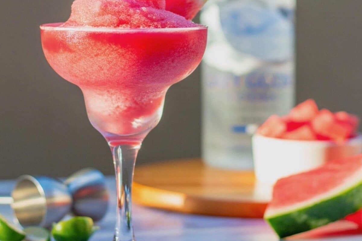 Watermelon Vodka Slushie – A Healthy Cocktail Healthier2gether