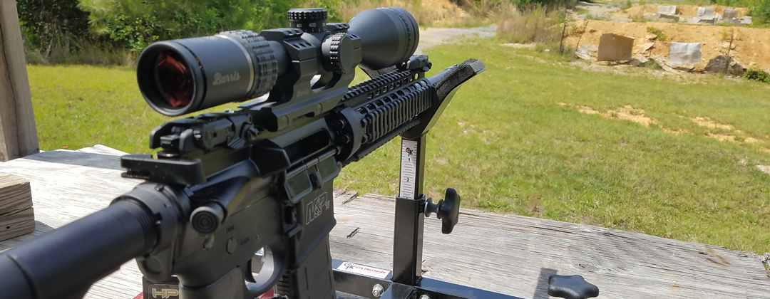 ArmsVault Network - AR-15 with Burris Scope at Range