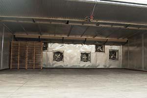 Photograph of a heat treatment chamber.