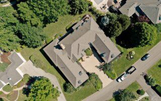Aerial roof shot