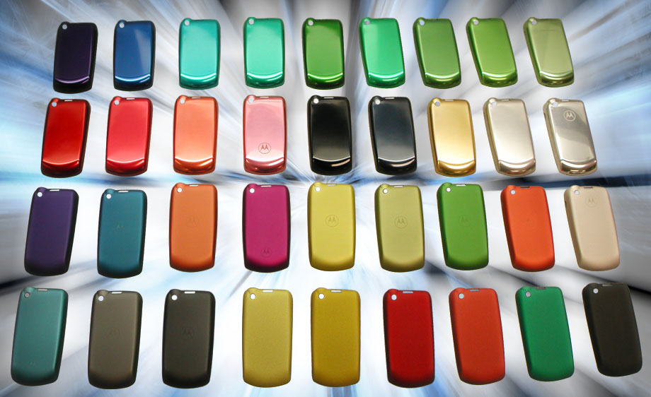 Motorola phone housings developed in part by Art of Mass Production, a San Diego based plastics engineering company
