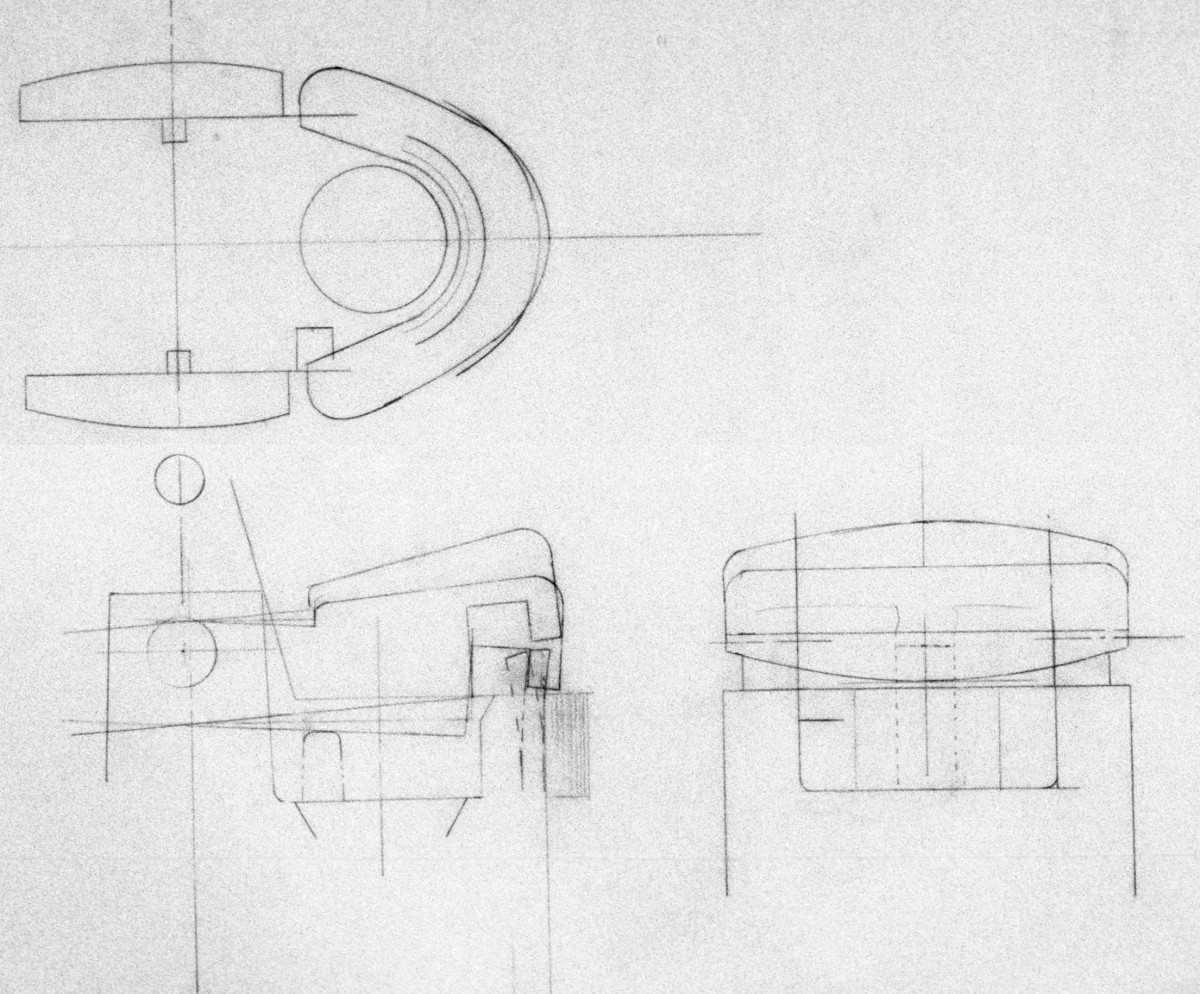 Engineering sketches by Art of Mass Production, a San Diego based plastics engineering company