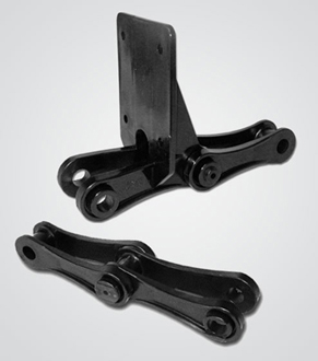 Plastic chain parts developed for Hitachi in part by Art of Mass Production, a San Diego based plastics engineering company
