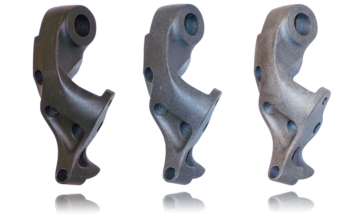 Bicycle rear derauller parts developed in part by Art of Mass Production, a San Diego based plastics engineering company
