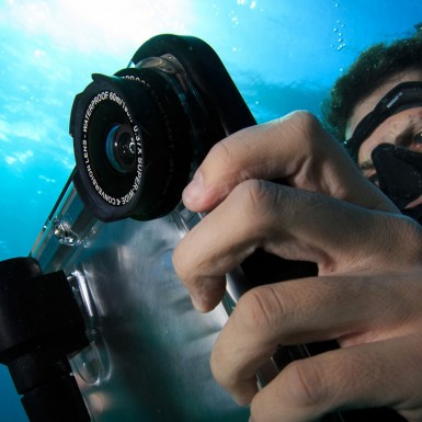 iDive, a waterproof diving case for the iPad developed in part by Art of Mass Production, a San Diego based plastics engineering company