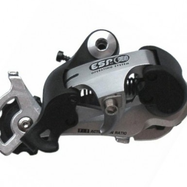 bicycle rear rear derailleur part engineered in part by Art of Mass Production, a San Diego based plastics engineering company