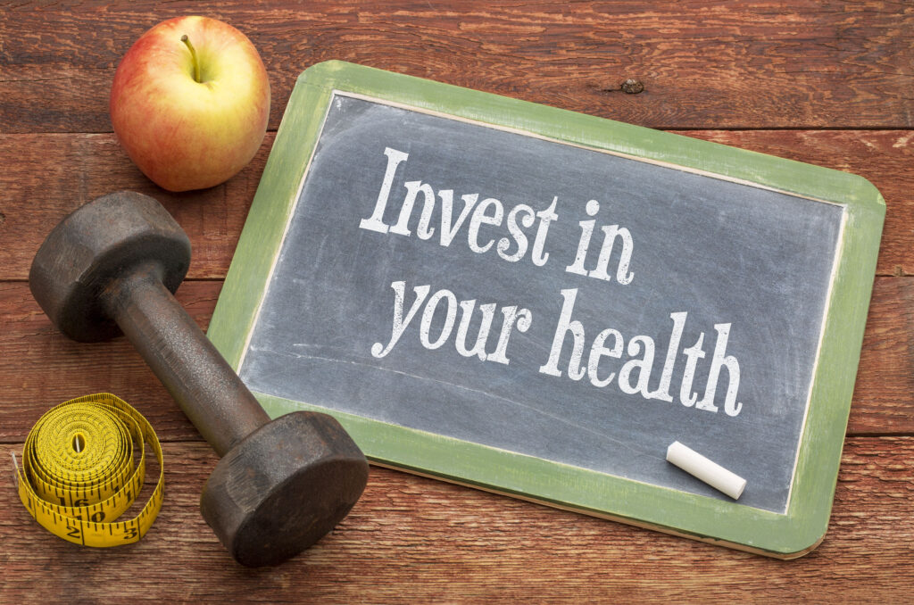 Invest in your health advice on blackboard
