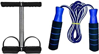 VPN Fitness and Service Tummy Trimmer Stomach and Weight Loss Equipment with Adjustable Skipping Rope for Gym Training and Workout for Men, Women.