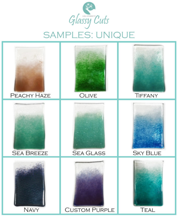 Peachy Haze Olive Tiffany Sea Breeze Sea Glass Sky Blue Navy Custom Purple Teal