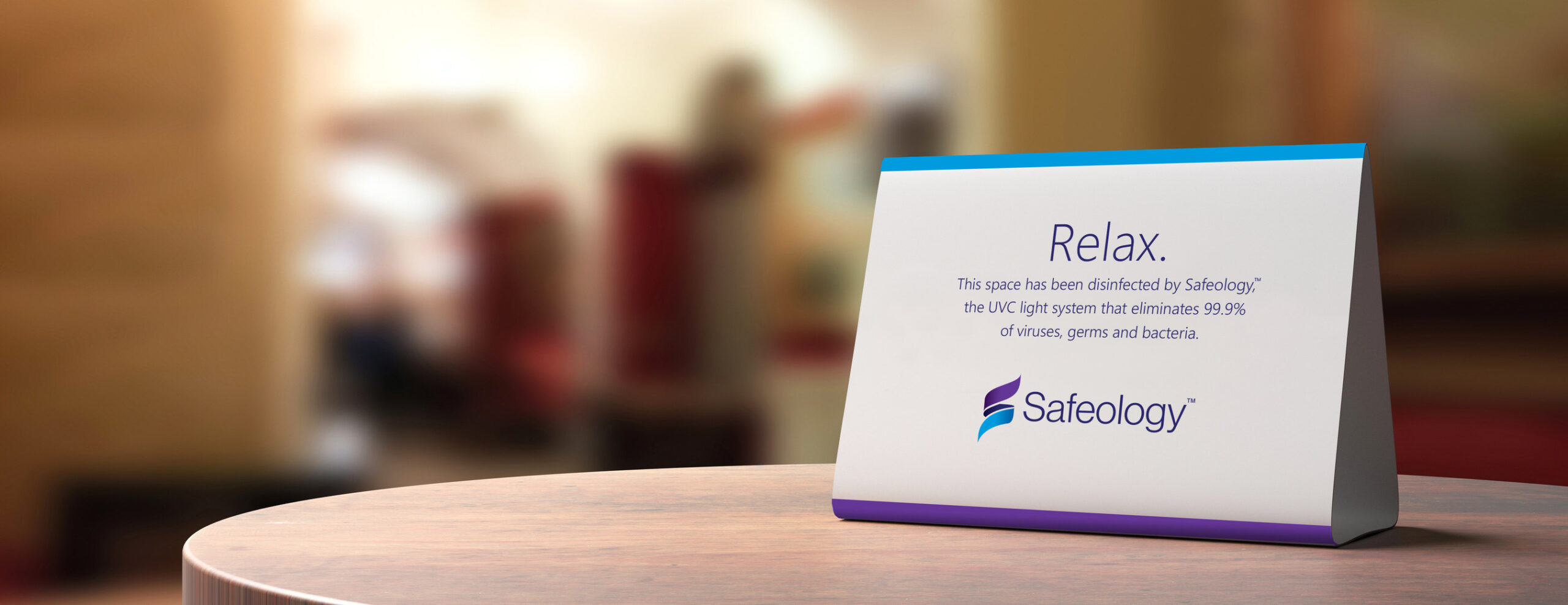 Safeology partners with customers to produce information and signage for customer properties, helping to communicate to the customers' guests and clients the spaces have been effectively disinfected.