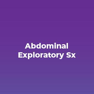 Abdominal Exploratory Sx