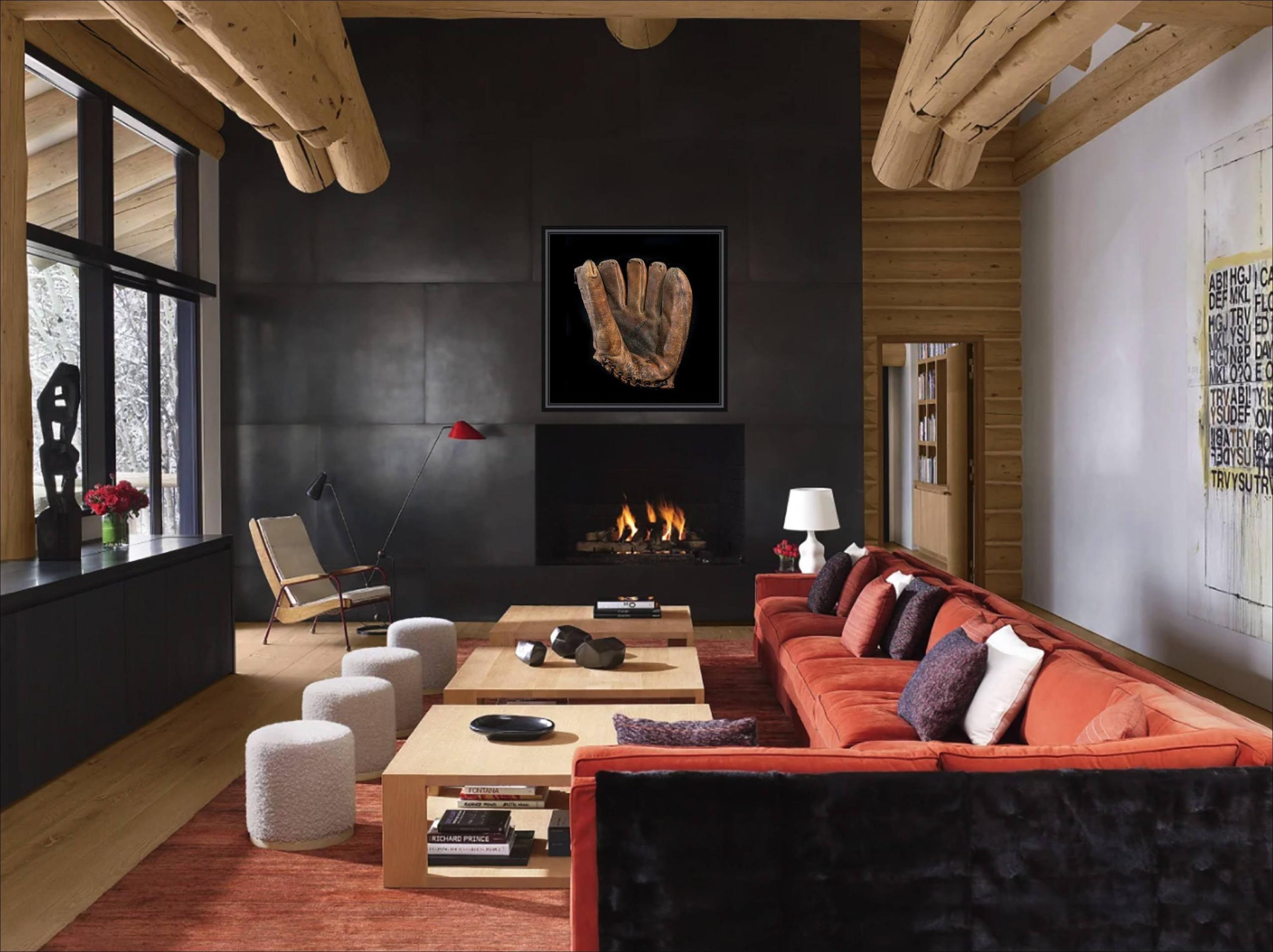 Modern Living Room with Baseball Glove