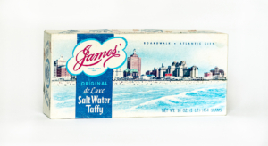 box of atlantic city salt water taffy