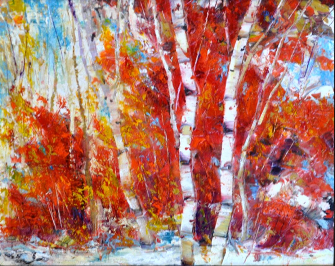 Montgomery-Lee Fine Art   Flaming Trees