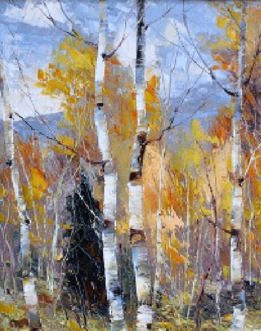 Montgomery-Lee Fine Art| Glorious Aspens