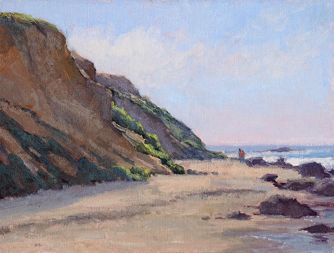 Montgomery-Lee Fine Art   A Walk Under the Cliffs