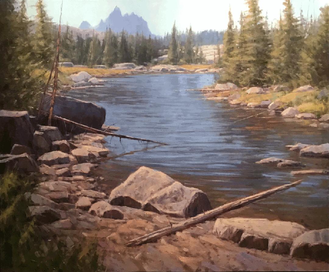 Montgomery-Lee Fine Art   Creekside View