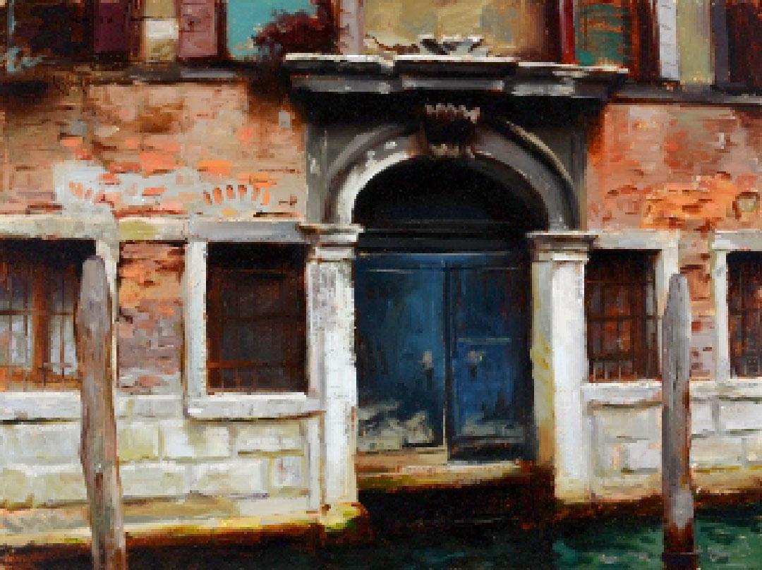 Montgomery-Lee Fine Art   Blue Door Venice