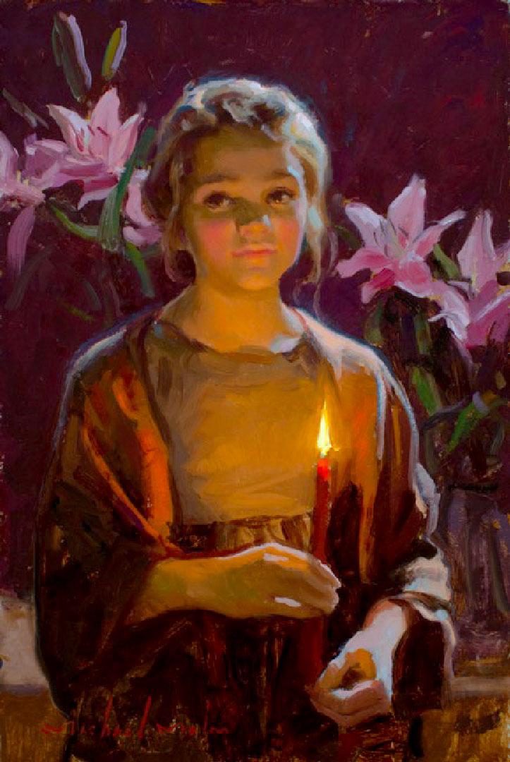Montgomery-Lee Fine Art   Candles Warmth
