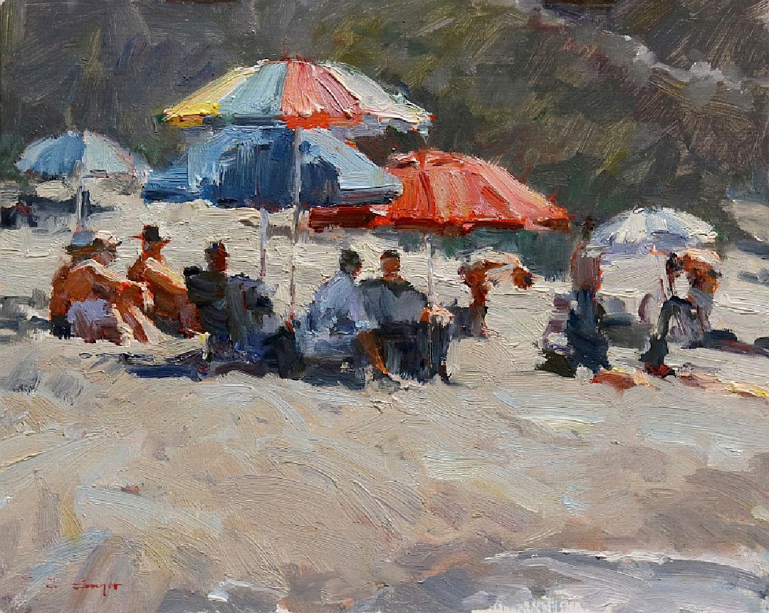 Montgomery-Lee Fine Art   Sunny Beach Day