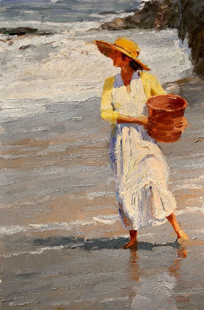 Montgomery-Lee Fine Art | Watching- he Tide